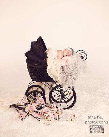Adorable newborn baby girl