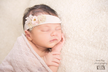 Newborn photo session for a baby girl