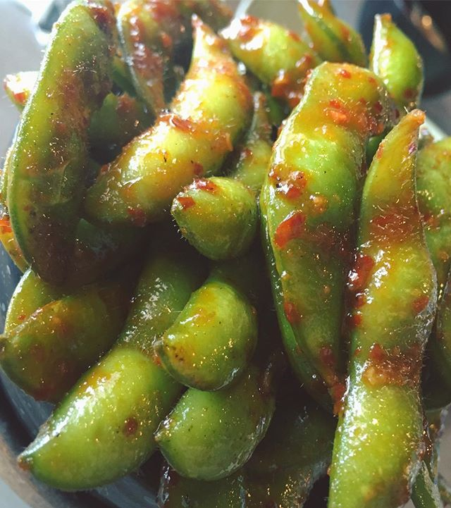 📍Miami, Florida - Sweet And Spicy Edamame Beans In A Sweet Chili Garlic Sauce, One Of My Favorite S