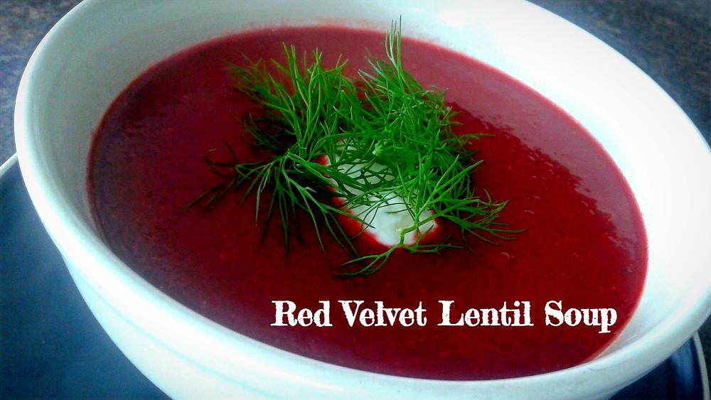 Red Velvet Lentil Soup