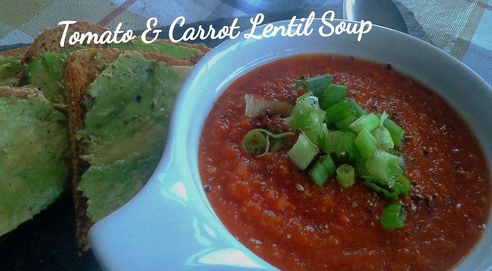 Tomato & Carrot Lentil Soup