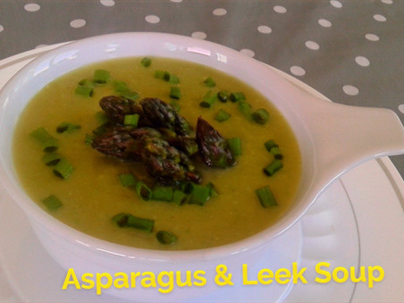 Creamy Asparagus & Leek Soup