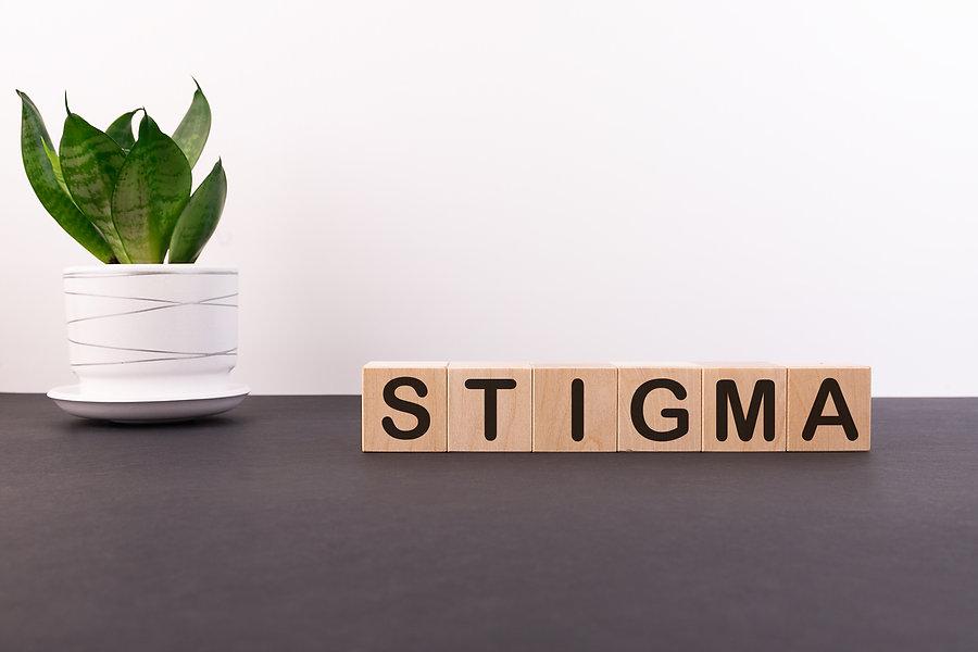 STIGMA word made with building blocks on