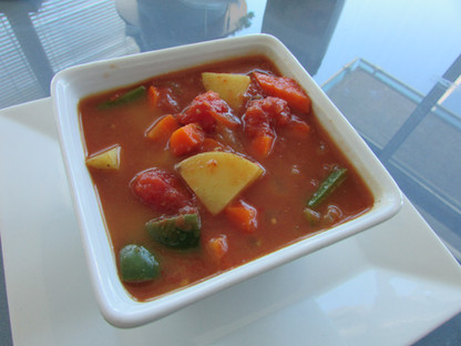 Vegetable& Potatoes in a Tomatoes Broth