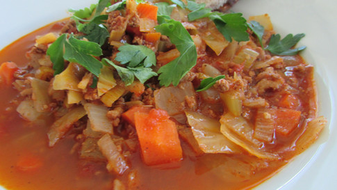 Minestra (Minestrone Soup) with Cabbage