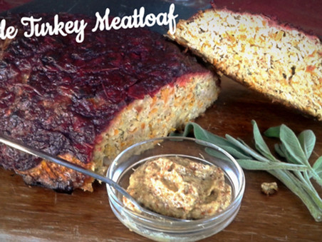 Cranberry Crusted Chipotle Turkey Meatloaf with Sage