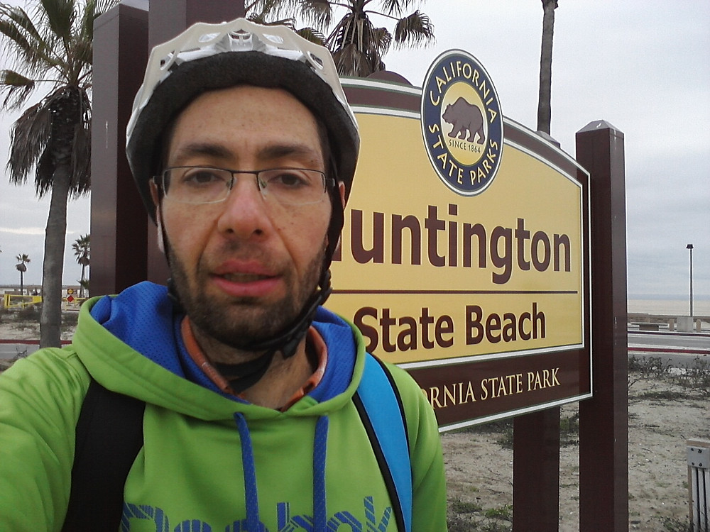 Former Obese Male cycling 500 km of the west coast Pacific Highway in southern California