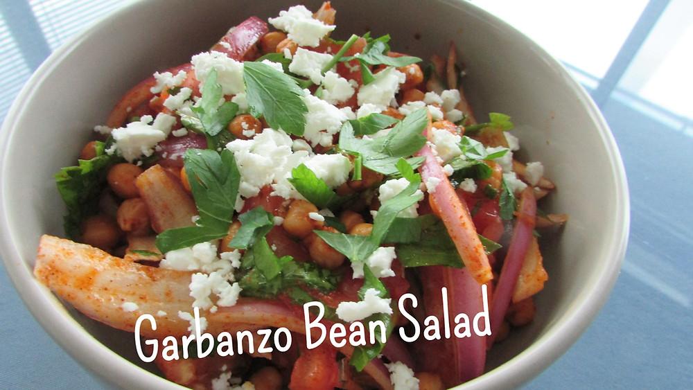 Garbanzo Bean Salad in a Hungarian Citrus Dressing