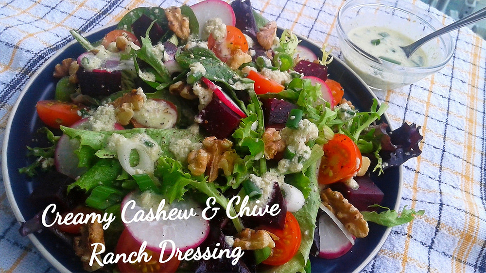 Plant Based Creamy Cashew & Chive Ranch Dressing
