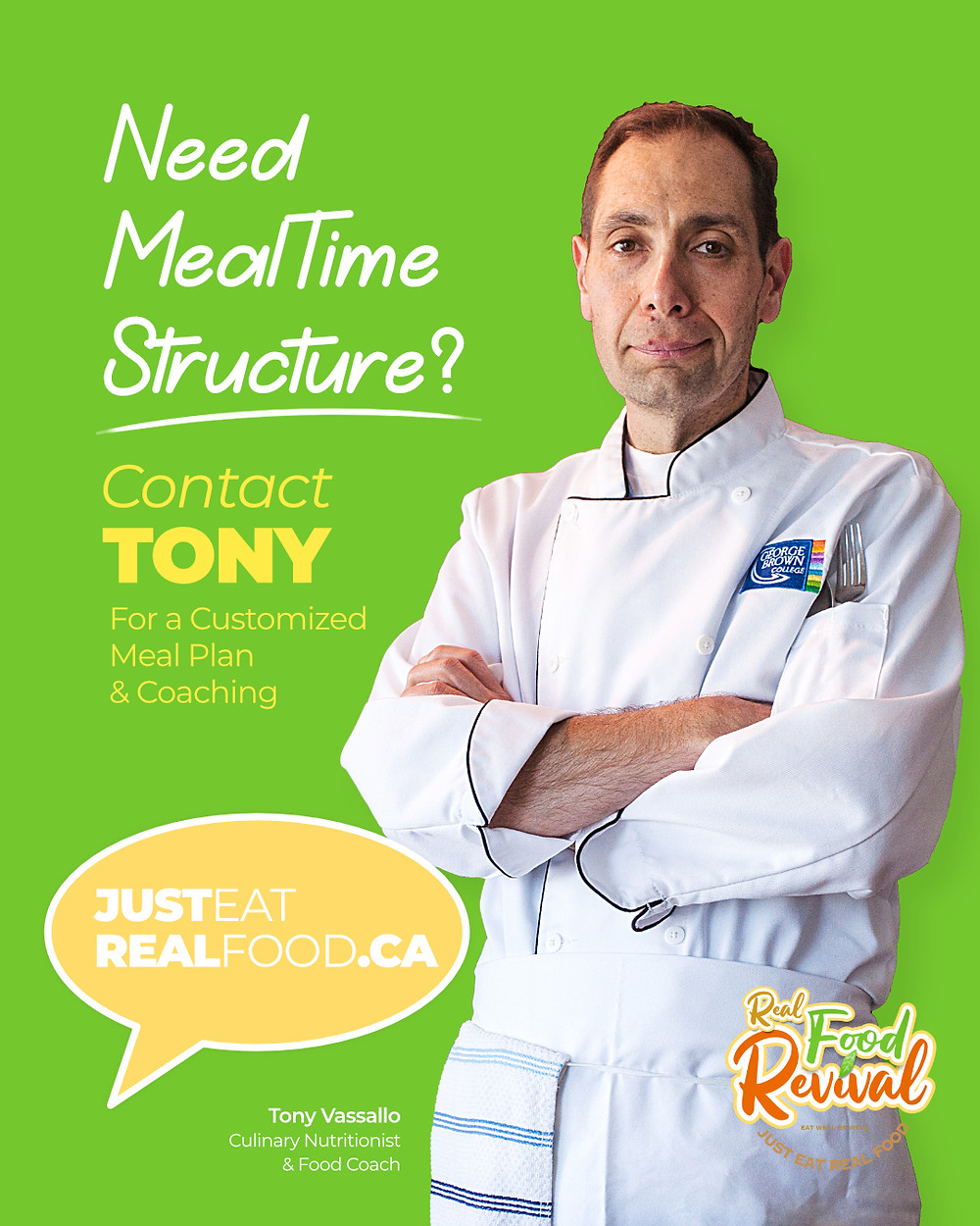 Tony Vassallo Culinary Couch Click Image to Learn More