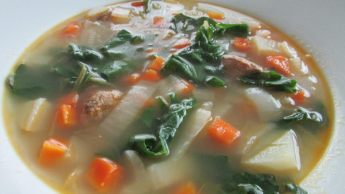 Turkey Sausage & Kale Soup