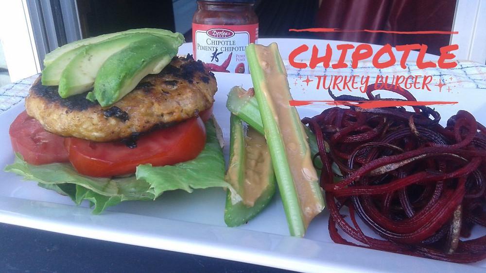 Tony's Chipotle Turkey Burger