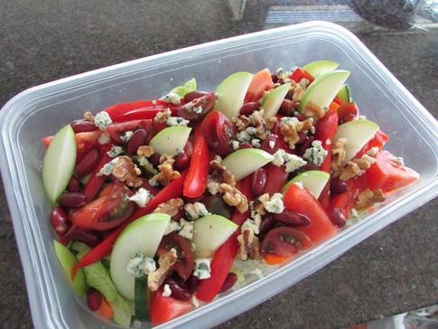 Red Kidney Bean Salad wiht Apples & Blue Cheese