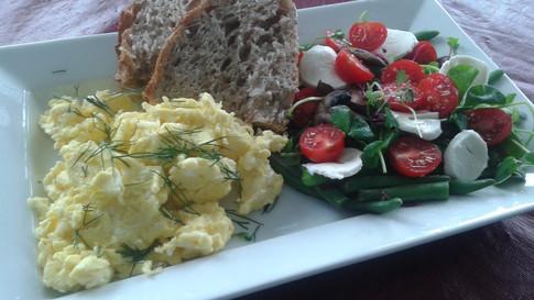 Scrambles Eggs & Side Salad
