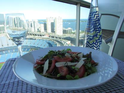 Salad wiht a View