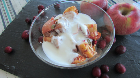 Roasted Apple Crumble with Yoghurt