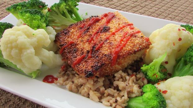 Sesame Seed Seared Salmon