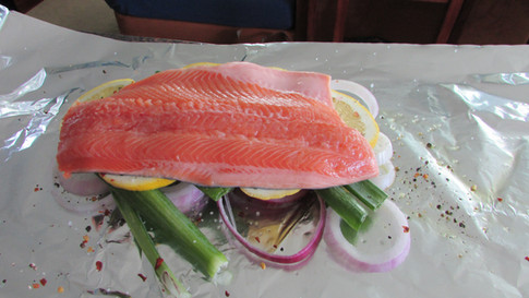 Trout Oven Poached in Foil