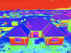 High Resolution Thermal Image of House