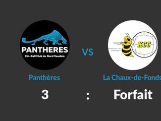 Les Panthères gagnent sans jouer et reprennent la première place