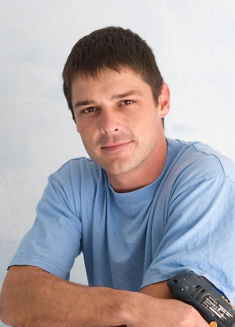 Handyman with Blue Shirt