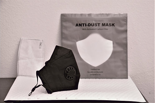 Face Mask with Activated Carbon Filter Washable