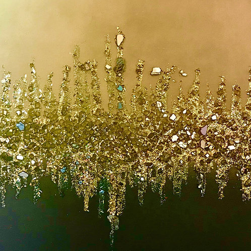 """""""Gold Mesmerize"""" Decorative Painting by TJ Smith"""