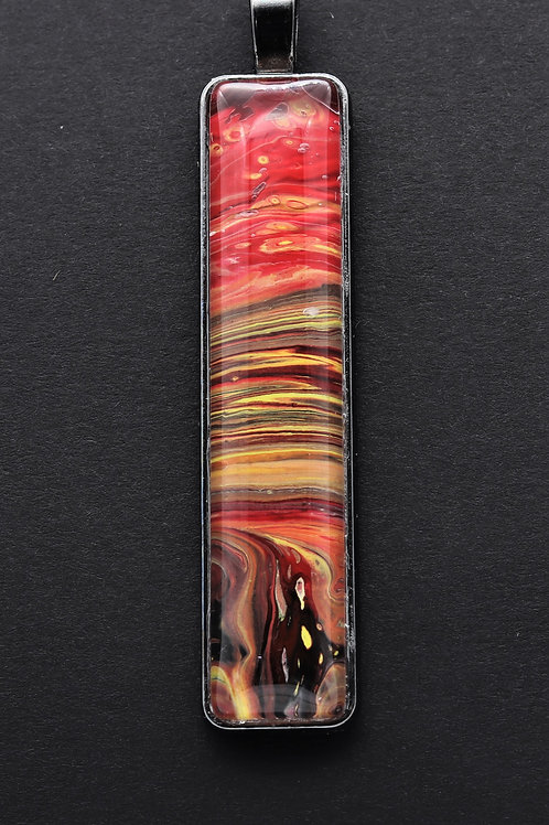 Strawberry Sky Pendant Necklace by TJ Smith