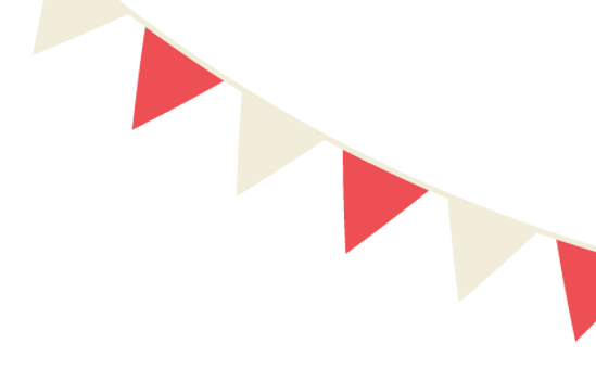 Red and White Flags