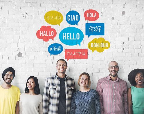Different Language Speech Bubble Hello C