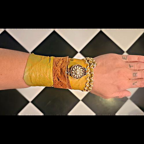 Leather Wraparound Bracelet