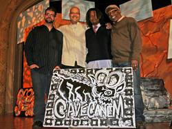 Cave Canem logo painting