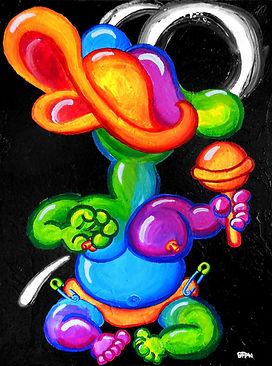 """'Ductling' acrylic on canvas, 30""""x40"""" artist: Brian Finn artist website: www.BrianFinnInk.com"""