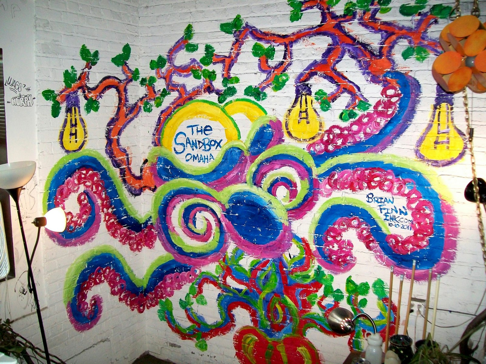Sandbox Octopus Tree Mural