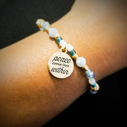Peace comes from within bracelet