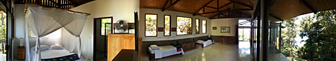 Bungalow wide angle view