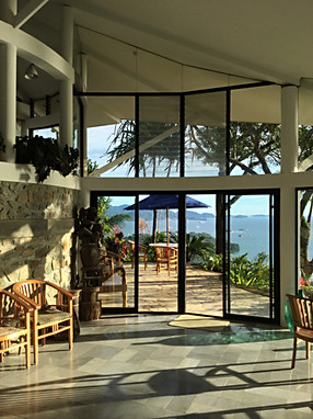 The main terrace invites...