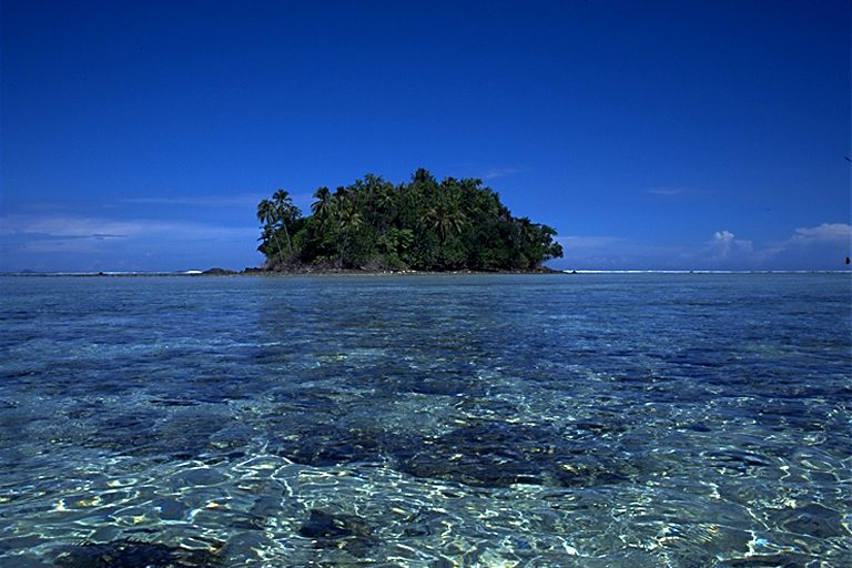 Pristine waters around Marak Island