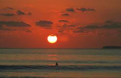 Air Manis beach sunset surf