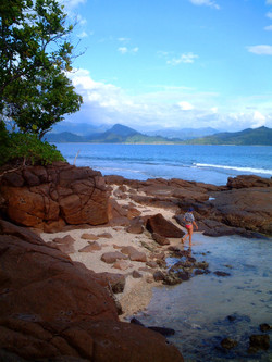 Beach combing Marak Island