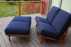 Freedom Chair lays flat like ottoman