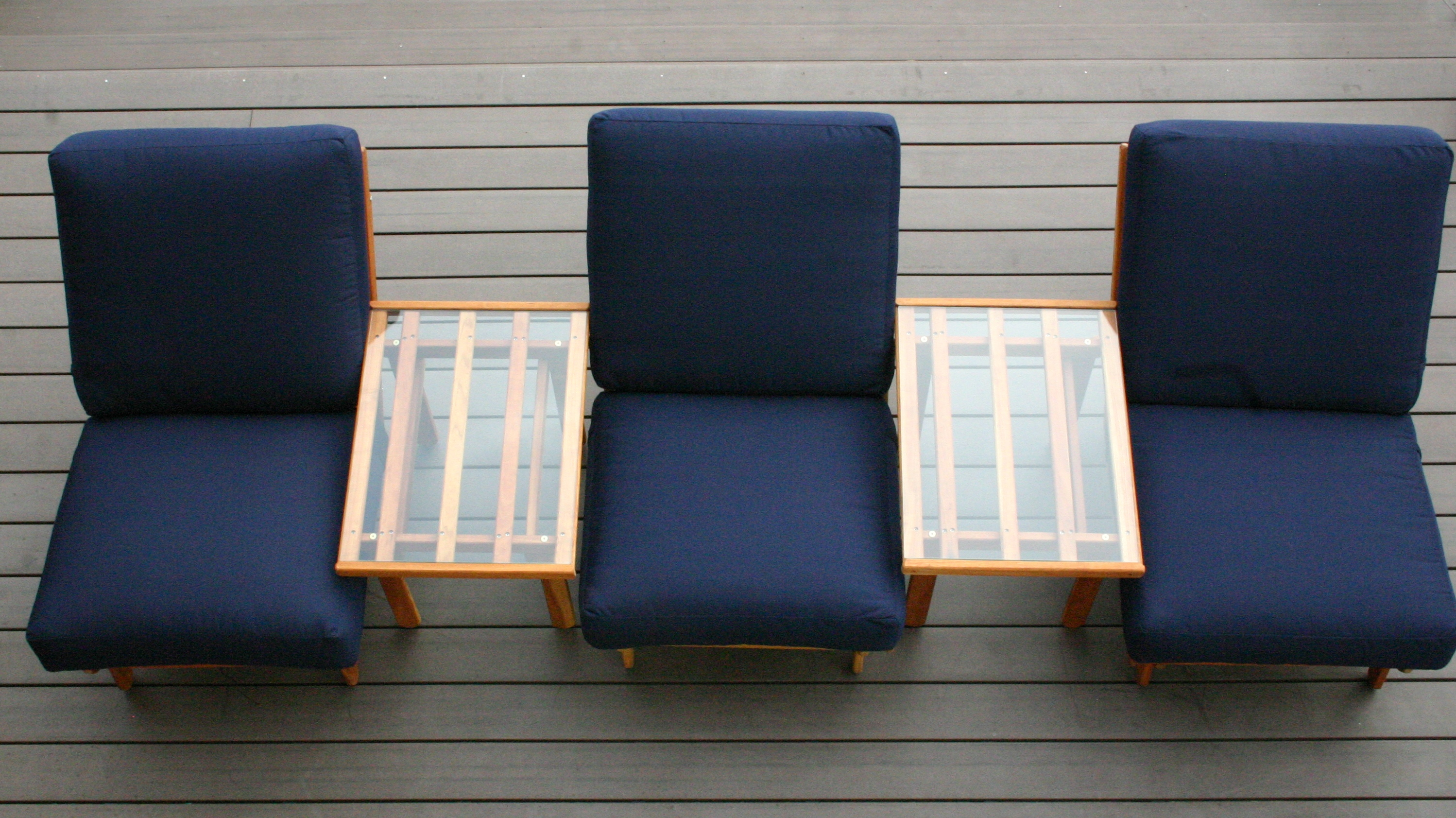 Three Chairs on the deck