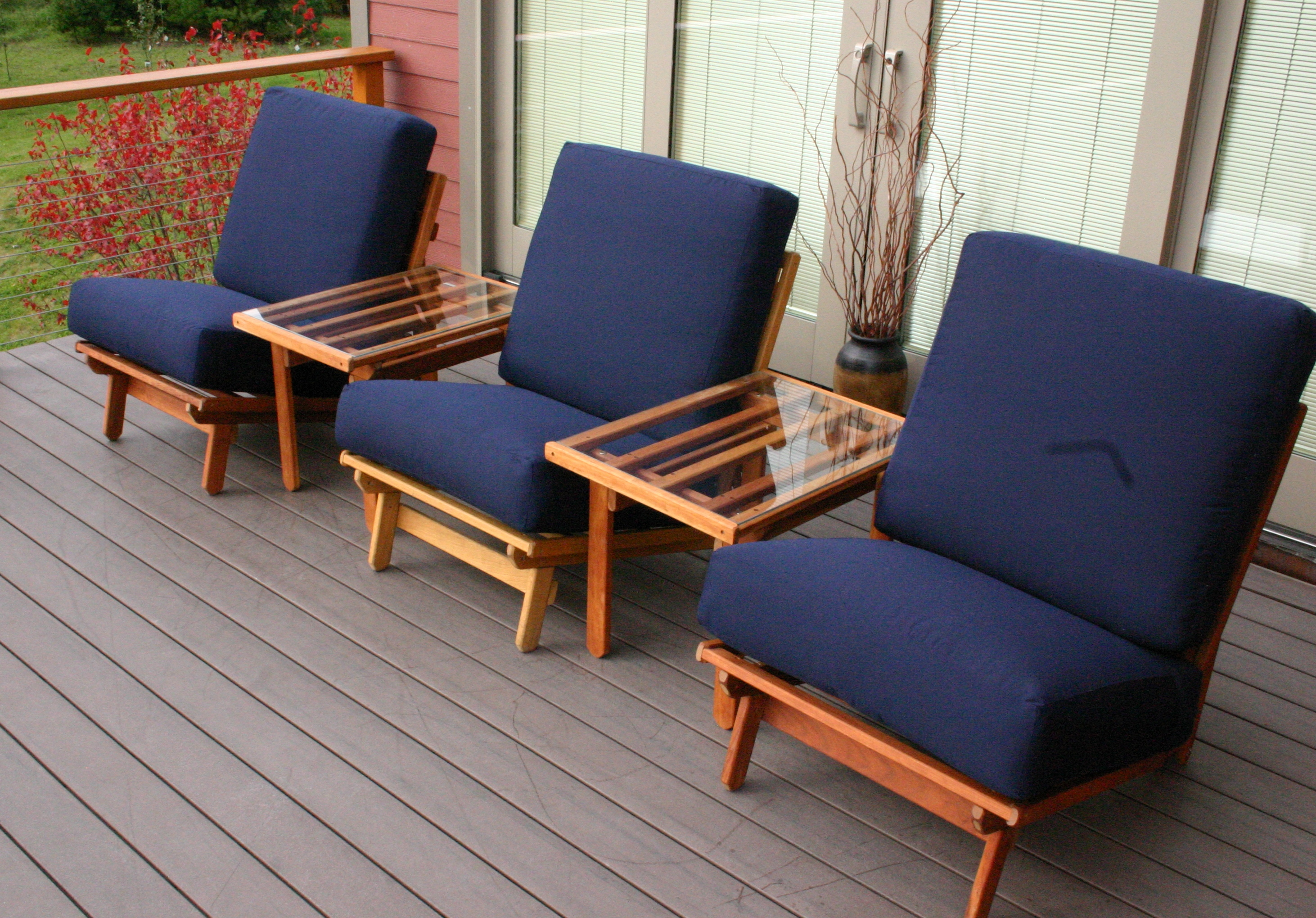 Three Freedom Chairs on the Deck