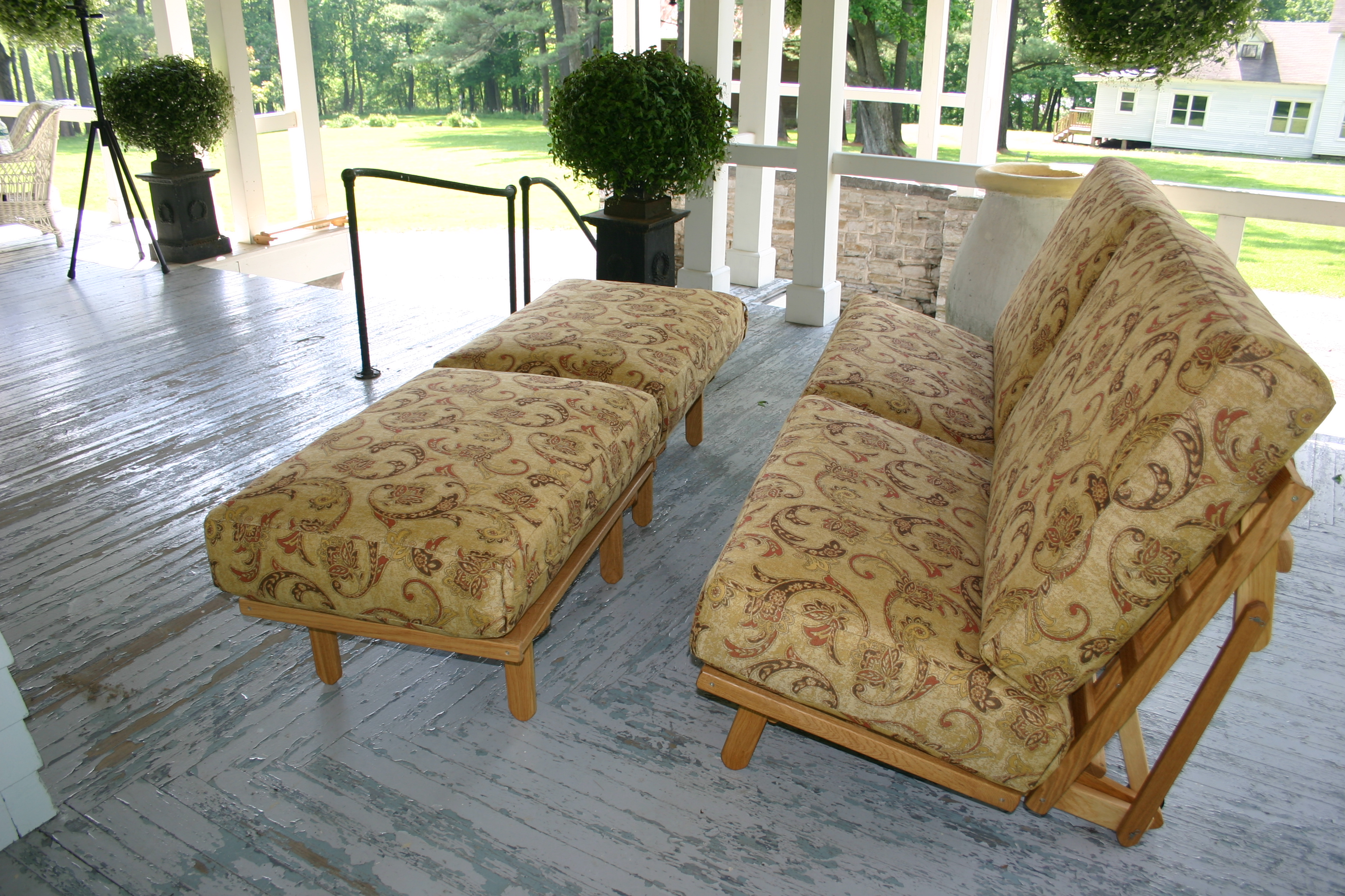 Freedom Twin Chairs and Ottomans