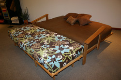 Sofa and Cot Chaise make a King Bed