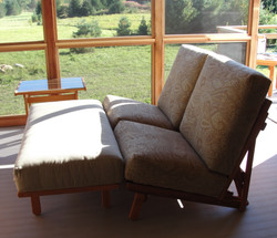 Chairs and Ottoman make Full Chaise