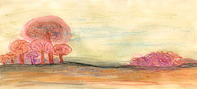 About Lia Kay Barrad who develops websites and paints watercolors