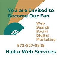 Become a Fan of Haiku Web Services