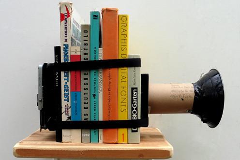 Camera obscura aus Büchern