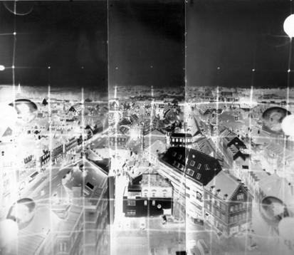 Panorama aus dem Rathausturm Fürth I